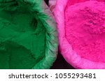 vibrant coloured green and pink ... | Shutterstock . vector #1055293481