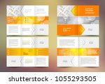 brochure set tri fold and... | Shutterstock .eps vector #1055293505