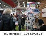 bologna  italy   march 26  2018 ... | Shutterstock . vector #1055293625