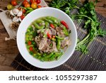 most popular food in thailand... | Shutterstock . vector #1055297387