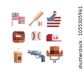 united states of america... | Shutterstock .eps vector #1055305961