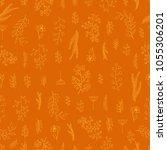 vector vintage seamless floral... | Shutterstock .eps vector #1055306201