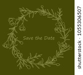 handdrawn wreath made in vector....   Shutterstock .eps vector #1055306507