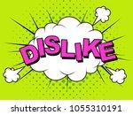 dislike. thumbs down  dislike... | Shutterstock .eps vector #1055310191