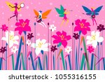 the fairy orchestra plays a... | Shutterstock .eps vector #1055316155