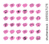 social media icons set. vector... | Shutterstock .eps vector #1055317175