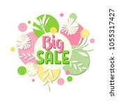big sale banner design with... | Shutterstock .eps vector #1055317427