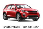 Stock photo  d illustration of red suv car on white background 1055318354