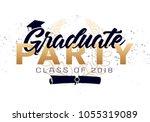 graduation label. vector text... | Shutterstock .eps vector #1055319089