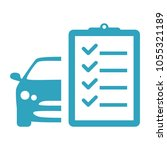 car maintenance list icon | Shutterstock .eps vector #1055321189