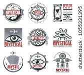vintage mystical spiritual... | Shutterstock .eps vector #1055331395