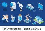 isometric artificial... | Shutterstock .eps vector #1055331431