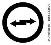 two side arrows icon black...