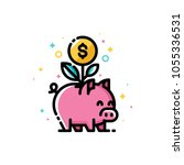 income increase and make more... | Shutterstock .eps vector #1055336531