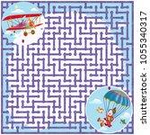 vector illustration  maze ...   Shutterstock .eps vector #1055340317