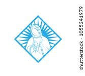 our lady vector logo... | Shutterstock .eps vector #1055341979