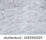 white plaster wall background   Shutterstock . vector #1055342525