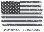 grunge usa flag.vector flag of... | Shutterstock .eps vector #1055343587
