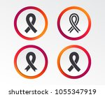 breast cancer awareness icons.... | Shutterstock .eps vector #1055347919