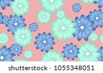 seamless flower pattern.... | Shutterstock .eps vector #1055348051