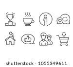 set of winner podium  feedback... | Shutterstock .eps vector #1055349611