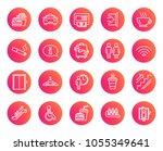 public services line icons. set ... | Shutterstock .eps vector #1055349641