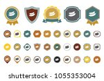 vector sausage icon | Shutterstock .eps vector #1055353004