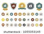 dollar house  icon | Shutterstock .eps vector #1055353145