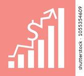 vector growth concept in flat... | Shutterstock .eps vector #1055354609