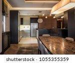 luxury kitchen interior | Shutterstock . vector #1055355359