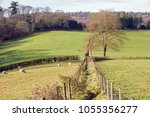 a footpath in the surrey hills... | Shutterstock . vector #1055356277