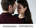 attractive sensual couple...   Shutterstock . vector #1055360231