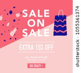 sale banner template. discount... | Shutterstock .eps vector #1055361374