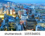 Downtown Kobe, Japan district of Sannomiya - stock photo