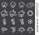 weather icons for print  web or ... | Shutterstock .eps vector #1055377727
