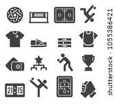 sepak takraw icons black edition | Shutterstock .eps vector #1055386421