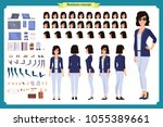young woman  casual clothes.... | Shutterstock .eps vector #1055389661