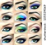 beautiful eyes | Shutterstock . vector #105539069