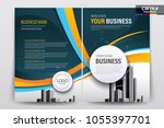 front and back cover of a... | Shutterstock .eps vector #1055397701