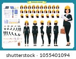 woman architect in business... | Shutterstock .eps vector #1055401094