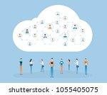 flat business online... | Shutterstock .eps vector #1055405075
