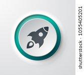 rocket web icon | Shutterstock .eps vector #1055405201