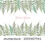 vector card with hand drawn... | Shutterstock .eps vector #1055407541