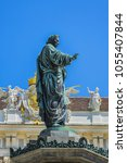 monument to emperor franz i of... | Shutterstock . vector #1055407844