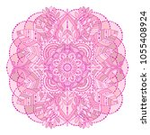 hand drawn floral mandala ... | Shutterstock .eps vector #1055408924