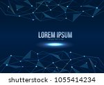 abstract polygonal space low... | Shutterstock .eps vector #1055414234