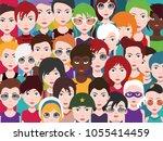 people avatars set of diverse... | Shutterstock .eps vector #1055414459