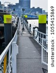 Small photo of floating dock on Maas river in Rotterdam Netherlands Holland