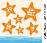 summer sales vector | Shutterstock .eps vector #1055416835