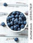 blueberry  blueberries  fresh...   Shutterstock . vector #1055417819